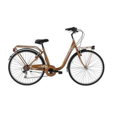 Bicicletta BEAUTY Alpina Bike Donna 6V Marrone