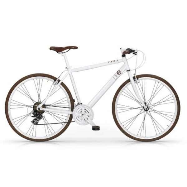 Bicicletta Ibrida Life Mbm Uomo Bianco