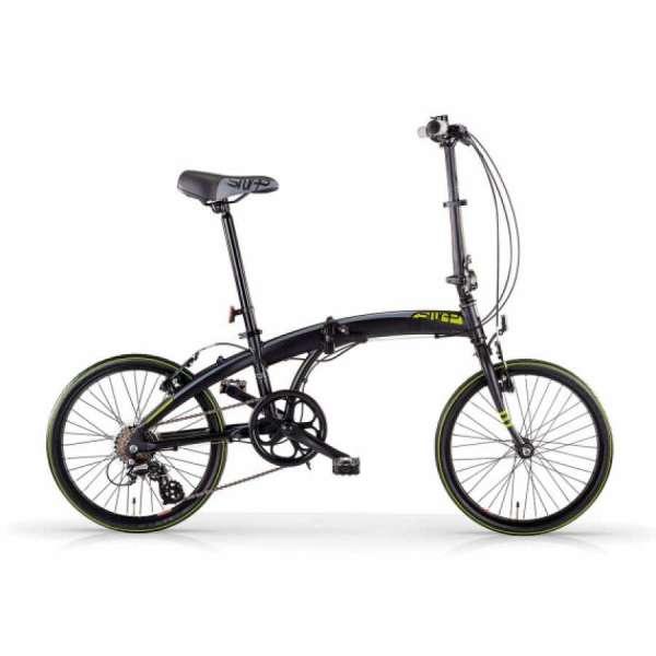Bici Pieghevole In Alluminio.Bicicletta Snap Mbm Pieghevole Nero