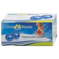 Coppia palle pilates MF506 di Movifitness gr 1500 Ø cm 14