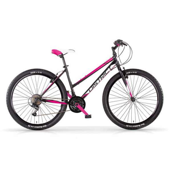 Bicicletta DISTRICT 27.5 MBM Mtb Donna Nero